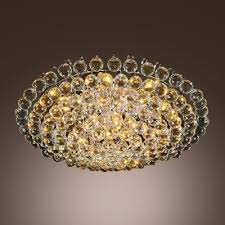 luxurious all small clear crystal globes 4 light 15 7 wide flush mount lights