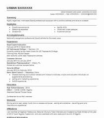 Student Athlete Resume Stunning Student Athlete Resume Example Ridge View High School Columbia