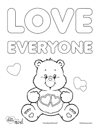 Small Picture Share Your Care Day Printable Care Bears Coloring Pages Honest