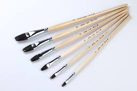 golden maple best quality mixture sable handle artist painting brushes set for oil painting brush