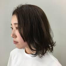ナチュラル 黒髪 ボブ ママhair Make Design Paf Kazue 287272hair