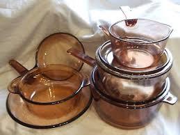 corning vision france cookware pyrex glass saucepans frying pans casserole dish