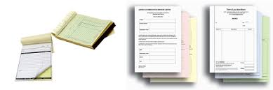 receipt book printing invoice book printing carbonless forms or ncr printing in dubai