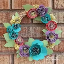 Paper Flower Cutter Doodlecraft Rolled Paper Flower Spring Wreath With Cricut Explore