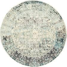 unique loom cambridge light blue 6 x 6 round rug