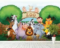 zoo wallpaper. Plain Zoo Animal Zoo Wallpaper Mural Room Setting And Wallpaper Wallsaucecom