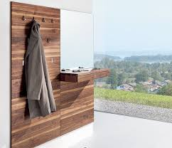 Wall Coat Rack With Storage Luxury highend modern coat rack shown in walnut and with an 53