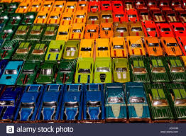 Display of model cars in London exhibition Stock Photo, Royalty ...