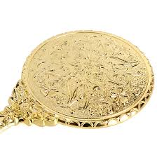 vintage compact mirror. girl small decorative vintage antique style gold hand held vanity round mirror compact m