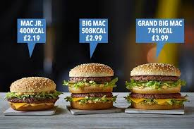 Mcdonalds Uk Nutrition Chart How Many Calories Are In A Big Mac What Is The Mcdonalds