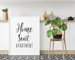 home sweet apartment printable poster