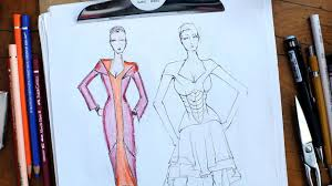 Youtube Fashion Design Sketches How To Color A Sketch Fashion Sketching