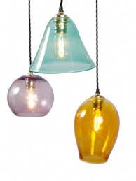 coloured glass pendant