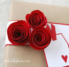 Rose Flower With Paper Rolled Paper Roses