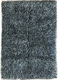 white wool shag rug. Super Area Rugs Cozy Collection-Flokati Wool Shag Rug (Black And White, 3ft White A