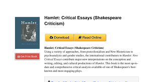 hamlet critical essays online hamlet scholarly articles