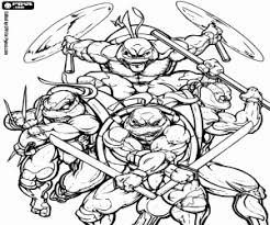 ninja turtle coloring pages. Perfect Pages The Ninja Turtles With The Weapons Intended Ninja Turtle Coloring Pages