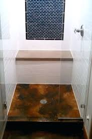 cement shower stall stained concrete floor pan diy