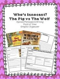 three little pigs opinion persuasive point of view graphic organizer true