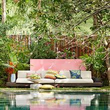 Image Mid Century Build Your Own Portside Outdoor Low Sectional Pieces Weathered Cafe West Elm Custom Outdoor Furniture West Elm