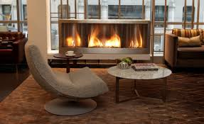 image of double sided gas fireplace
