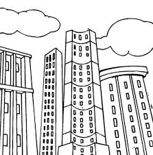 Small Picture Tall Apartment Building Colouring Page Happy Colouring