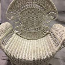 white wicker chair. White Wicker Chair By Design R