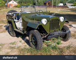 "Nelzha, Russia - August 27, 2018: The car of the Soviet Army ""Ivan-Willis"""