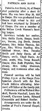 Wilma Harding - sister of Patricia Ann Davis (Hoopa, CA). Eureka CA paper -  Newspapers.com