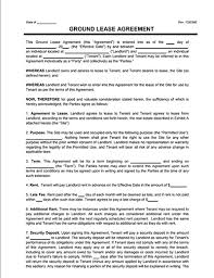 Free Rent Agreement Template Mesmerizing Land Lease Agreement And Farm Land Lease Agreement