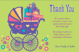 Thank You Cards Baby Shower Personalised Baby Shower Thank You Card Design 1