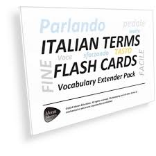 vocab cards with pictures printable italian musical terms flash cards