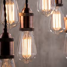 industrial style copper ceiling pendant light