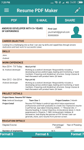 Resume PDF Maker / CV Builder- screenshot