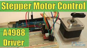 how to control a stepper motor with a4988 driver and arduino