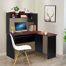 L shaped desk home office Modern Style Tangkula Shaped Desk Corner Desk Home Office Wood Workstation Space Saving Computer Desk With Amazoncom Amazoncom Tangkula Shaped Desk Corner Desk Home Office Wood