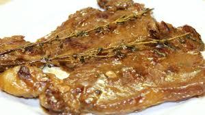 طريقة عمل شرائح اللحمة الانتركوت بصوص البصل و الزبادي و الزعتر Entrecote With Onion Sauce