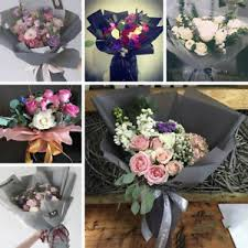How To Wrap Flower Bouquet In Paper Details About 20pcs Waterproof Bouquet Wrapping Paper Gift Wrapping Flower Decors Flower Shop