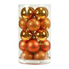 the office christmas ornaments. The Holiday Aisle Christmas Ball Ornaments With Cap Color: Burnish Orange Office O