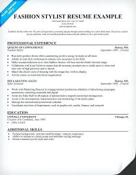 wardrobe stylist resume sample fashion stylist example resume wardrobe  stylist resume templates