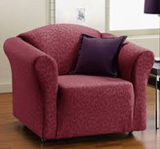 quickcover fresca one piece stretch chair slipcover amethyst purple design