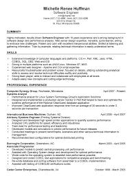 Skill Resume Excellent Free Software Developer Resume Samples