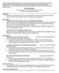 Resume Examples For Graduate Students Simple Mental Health Resume Examples Support Worker Scientist Cool Best
