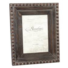 stonebriar collection 1 opening 5 in x 7 in rustic wood with rivet