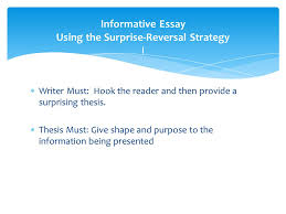 allyn and bacon chapter pages ppt video online  informative essay using the surprise reversal strategy i