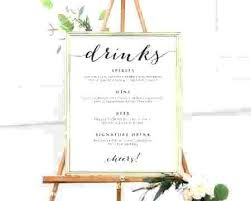 Wedding Bar Menu Template Image Result For Wedding Bar Menu Wedding