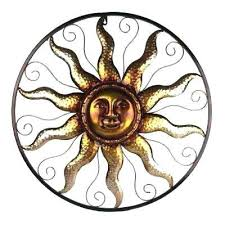 copper sun outdoor wall art steel bronze decorative n