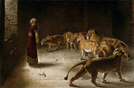 Image result for free picture of daniel in the lion's den