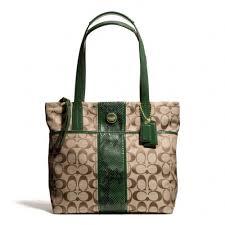Coach Signature Stripe Python Stripe Tote Shoulder Bag F25076 -  http   excellent-