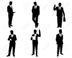 6 ビジネスマンのシルエットのベクター イラスト